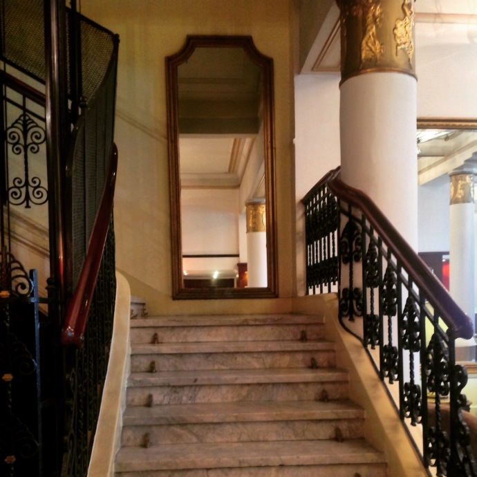 The stairs leading to the rooms- Cecil Hotel