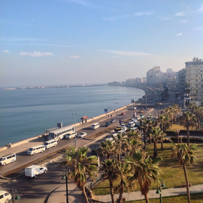 Ramleh Square and the Corniche in the morning