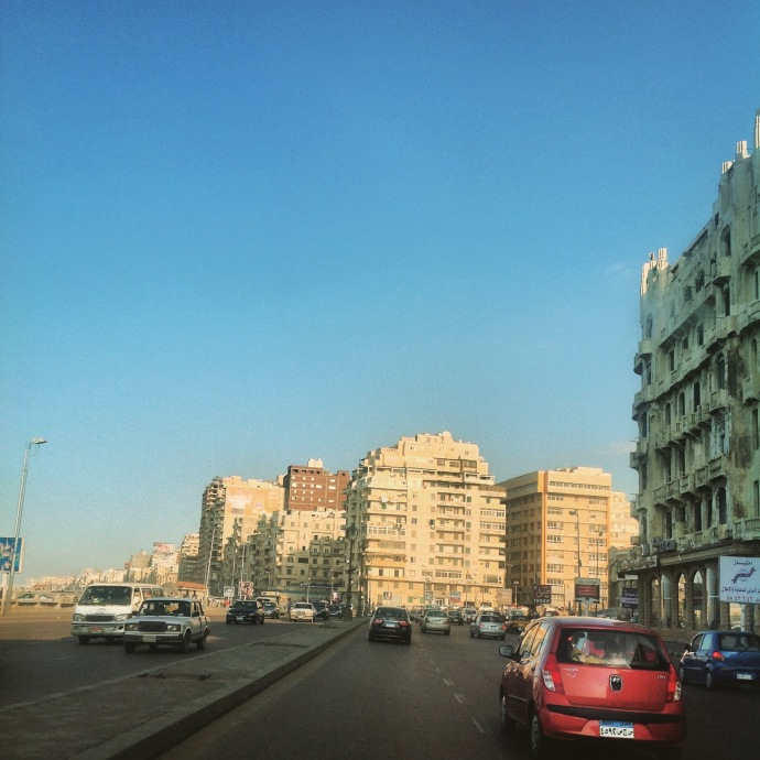 Corniche Road on a bustling day