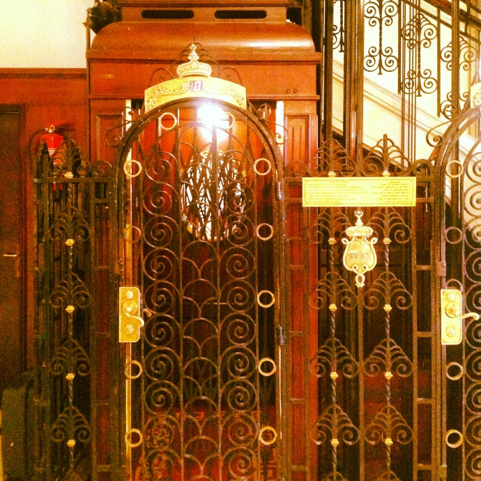 The lift of Cecil Hotel-feeling nostalgic